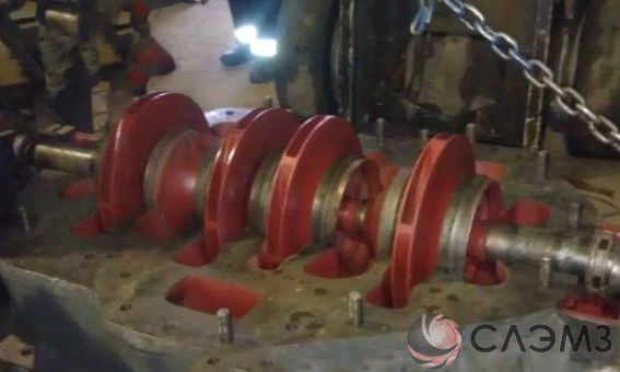 Запчасти для насоса ЦН 400/210 - ротор с рабочими колесами