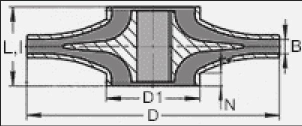 Чертеж рабочего колеса насоса Д630-90, 1Д630-90, 8НДВ
